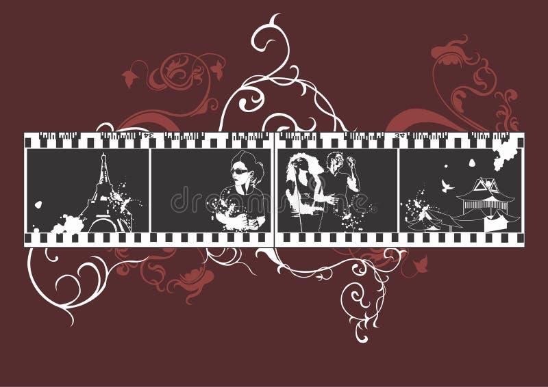 Illustrations sur le film illustration de vecteur