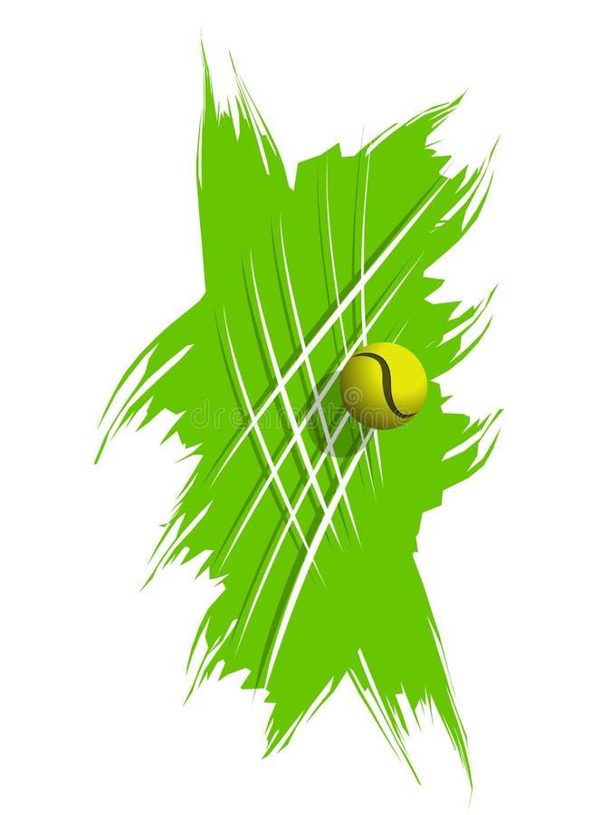 Illustrations-Tennisball auf Lager auf abstraktem Hintergrund vektor abbildung