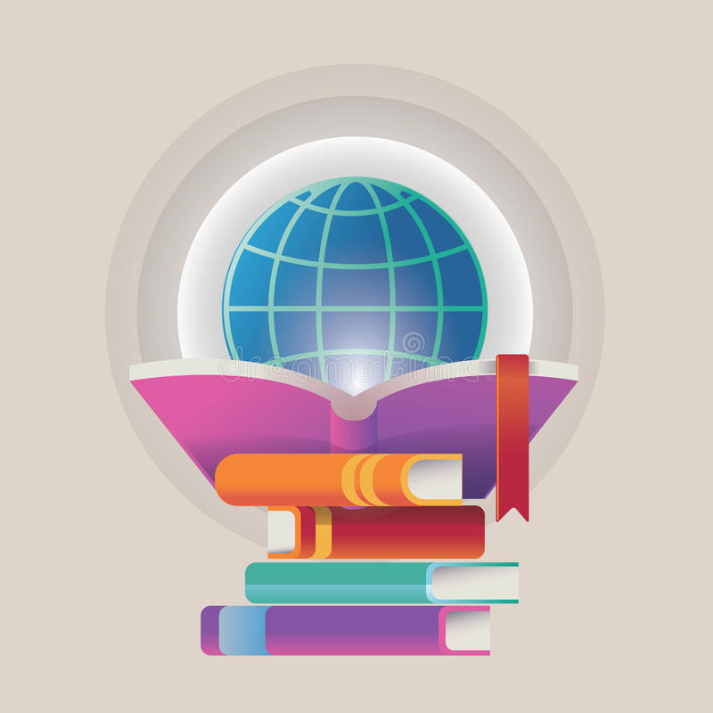Illustrations- und Konzepte des Entwurfes für on-line-Bildung lizenzfreie abbildung