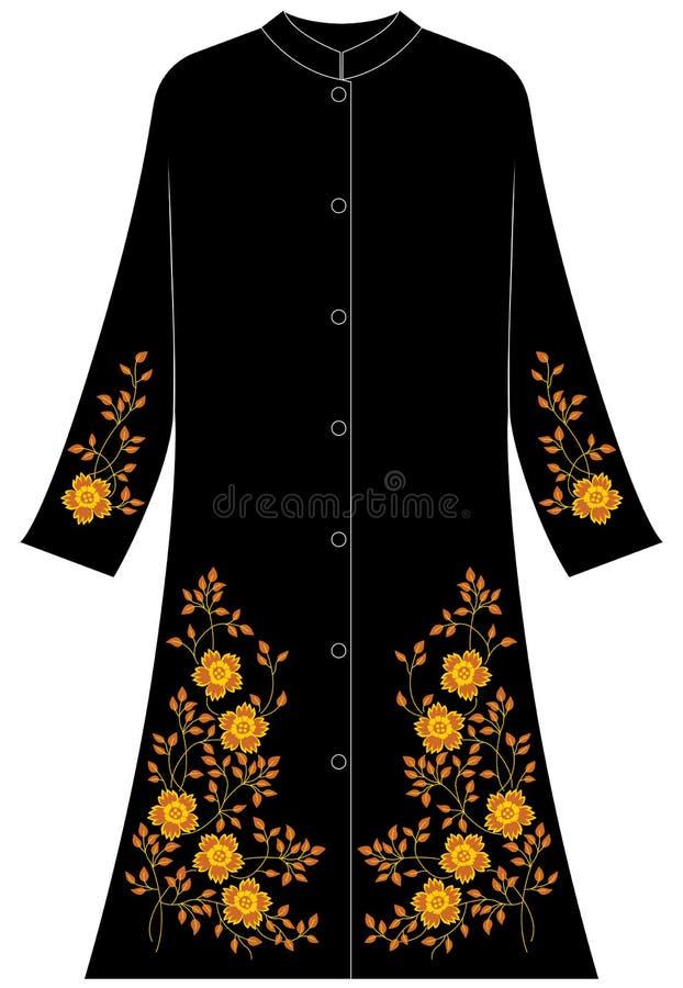Women`s clothing: Five petals Poppy vector illustration