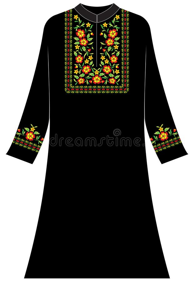 Women`s clothing: Jasmine and daisy arrangements form the letter U vector illustration