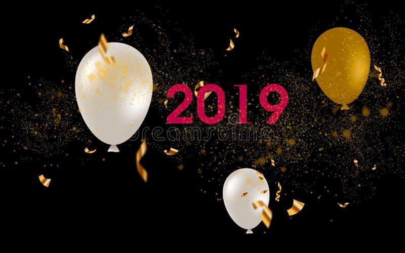 Illustrationsdesign des neuen Jahres stock abbildung
