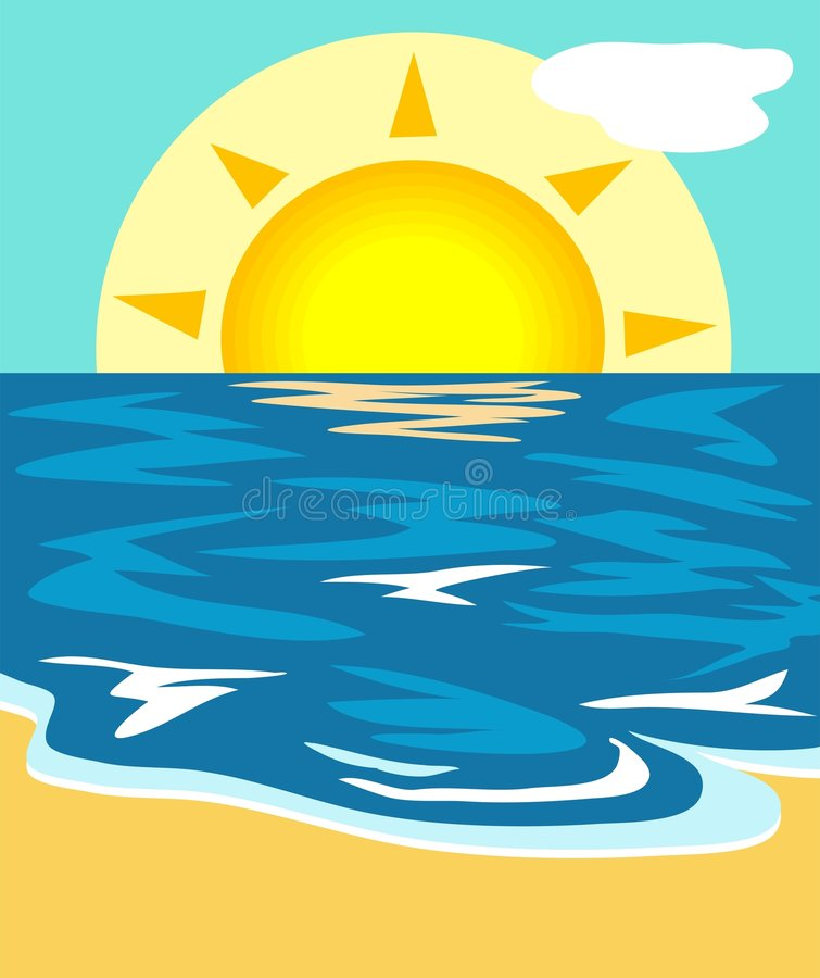 illustrationseascape stock illustrationer