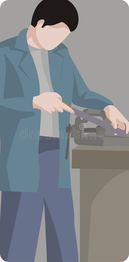 illustrationseriearbetare stock illustrationer
