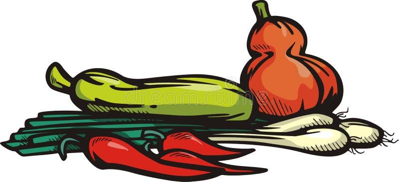 illustrationseriegrönsak stock illustrationer