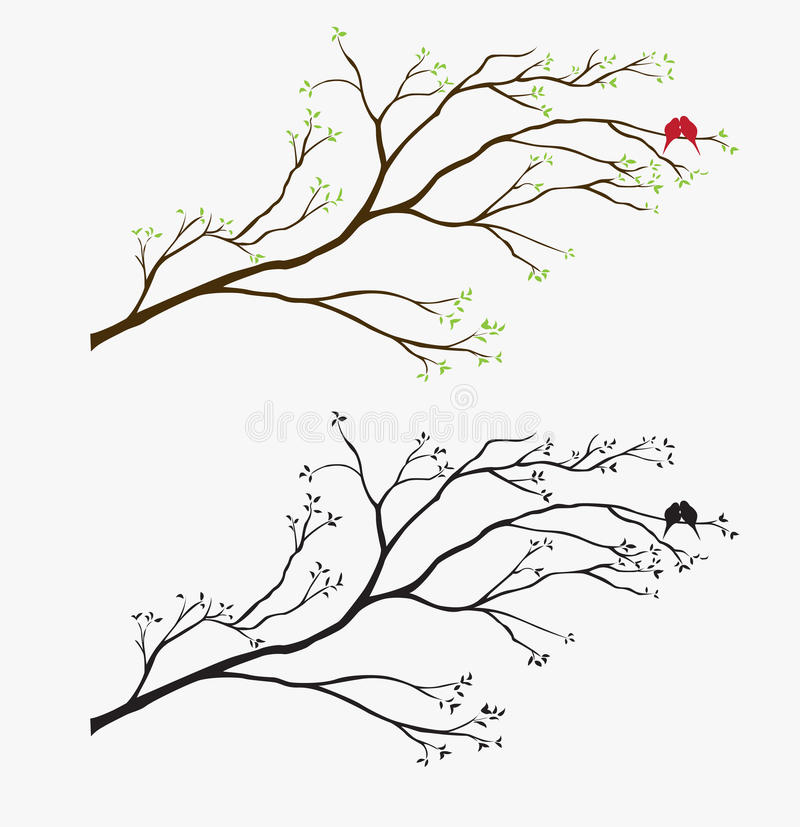 illustrationsfågeldekal vektor illustrationer