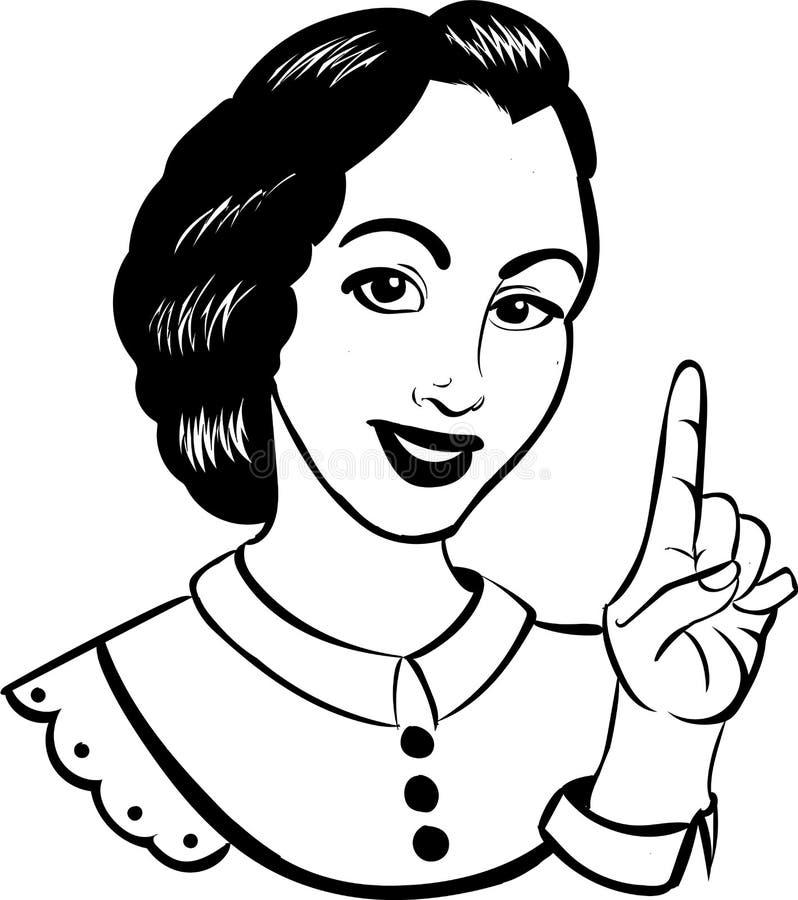 Illustrationsfrau lizenzfreies stockfoto