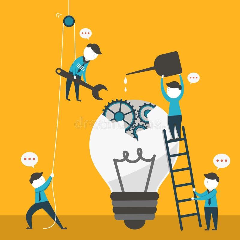 Illustrationskonzept der Teamarbeit lizenzfreie abbildung