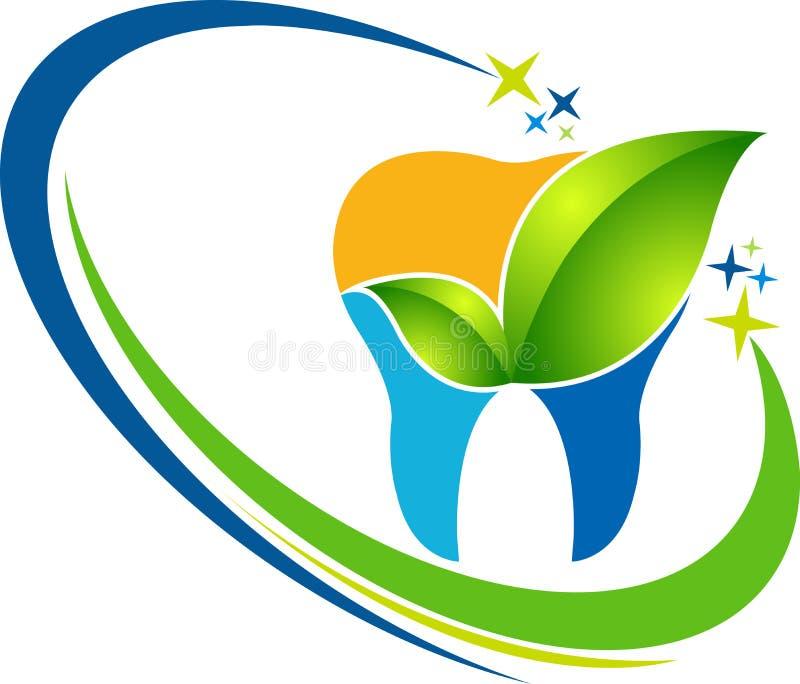 Zahnmedizinisches Kräuterlogo lizenzfreie abbildung