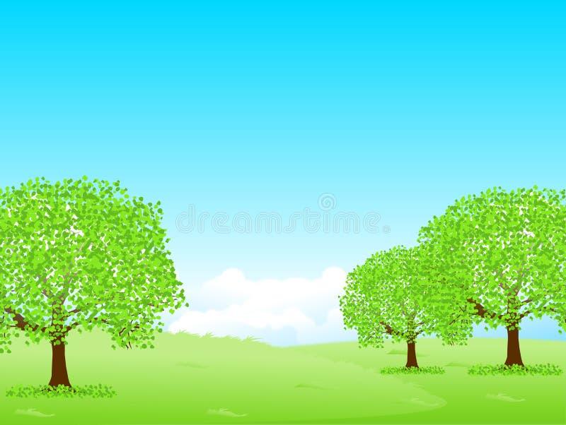 Illustrationsmaterial, das neues Grün sich vorstellte stock abbildung