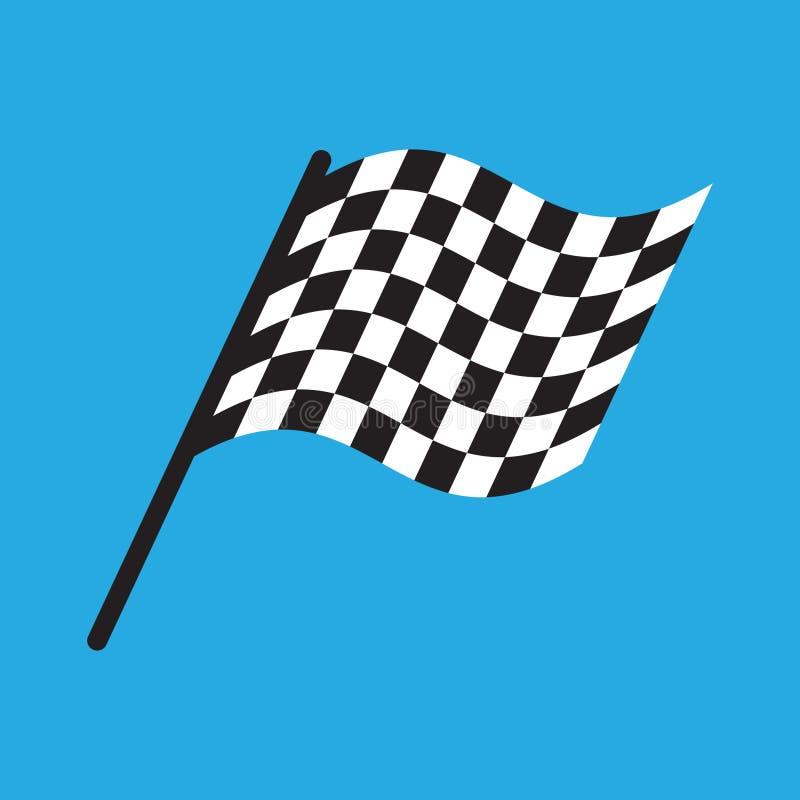 Illustrationsvektor des Rennflaggen?bersichtlichen designs stock abbildung