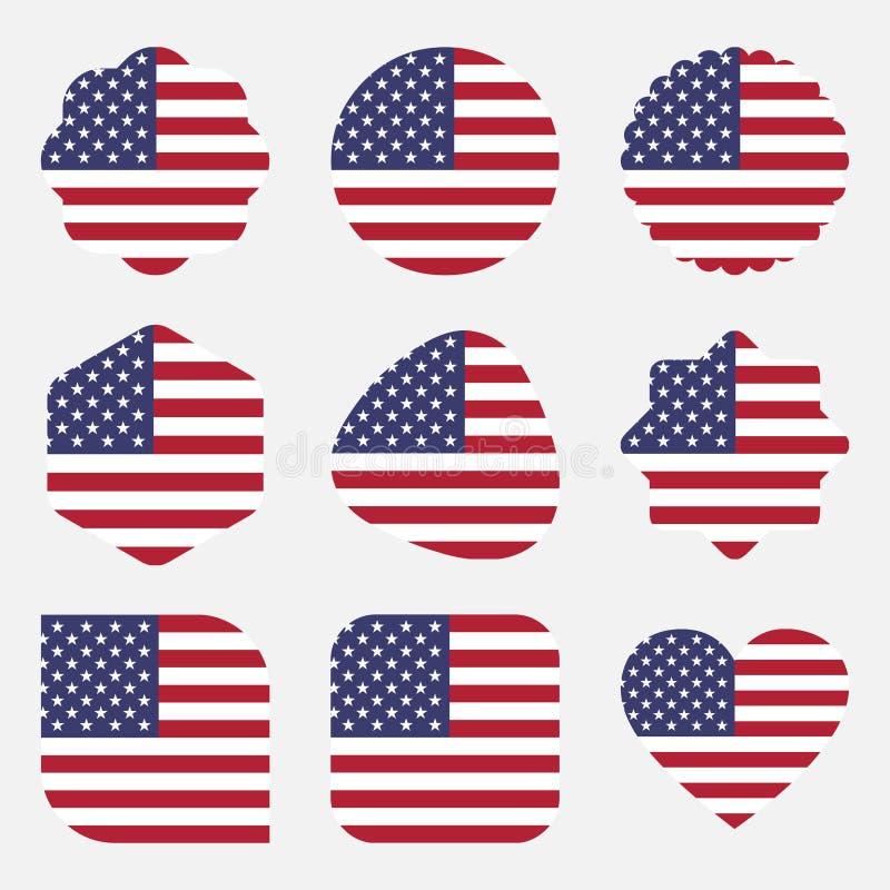 Illustrationsvektor ENV Flaggenvereinigter staaten Amerika vektor abbildung
