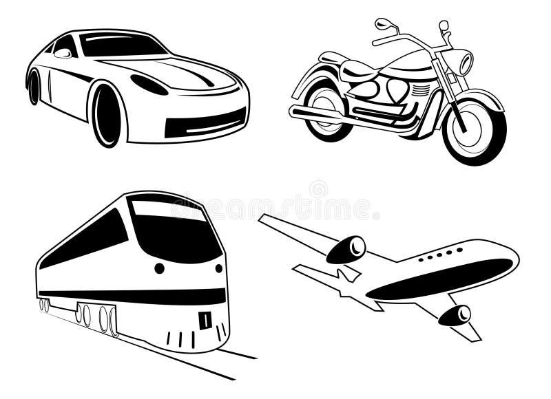 illustrationtransportvektor stock illustrationer