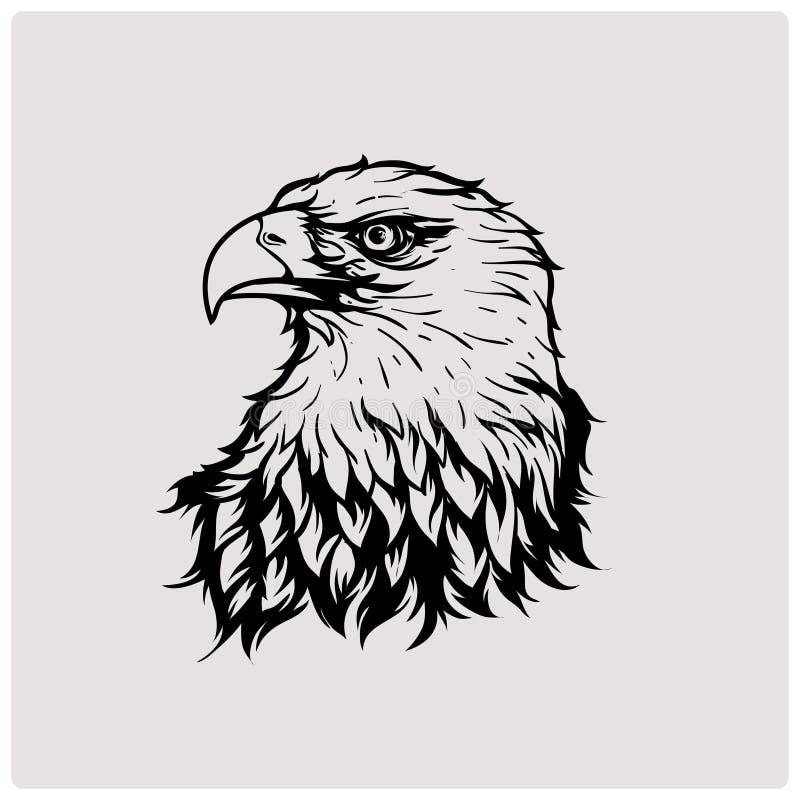 illustrationvektor av den head örnen vektor illustrationer