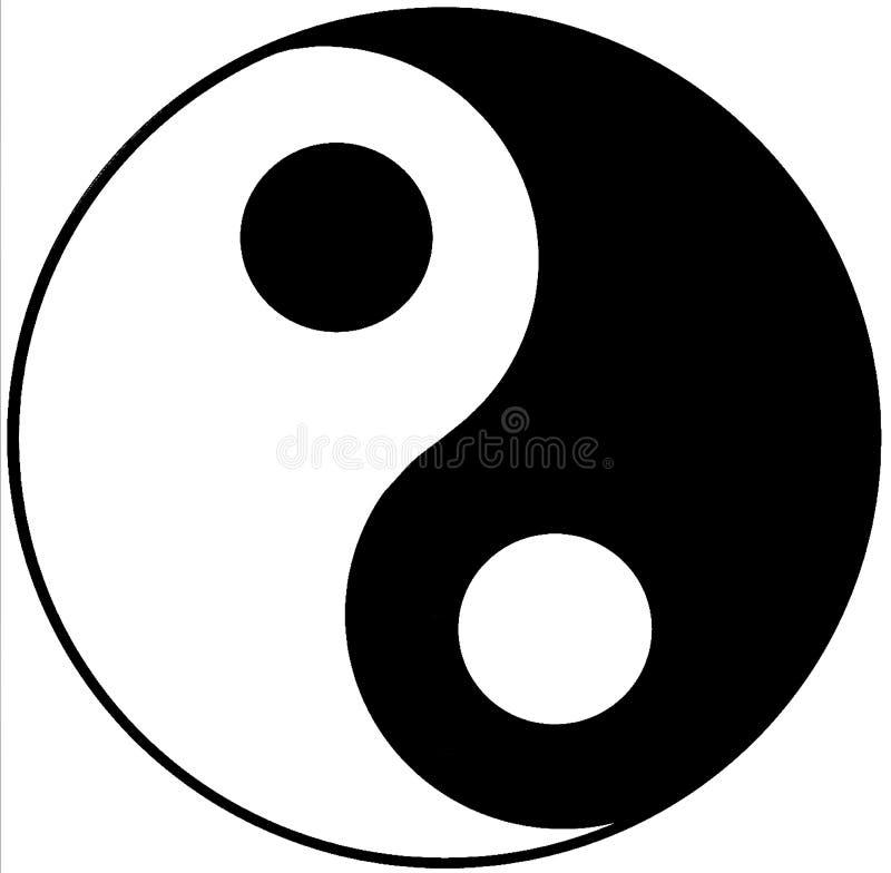 illustrationyang yin arkivfoton