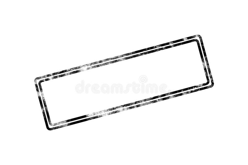 Blank Stamp with Black Frame royalty free illustration
