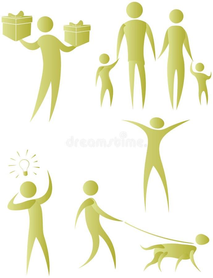 Download Illustrative icon stock illustration. Illustration of silhouette - 15610811