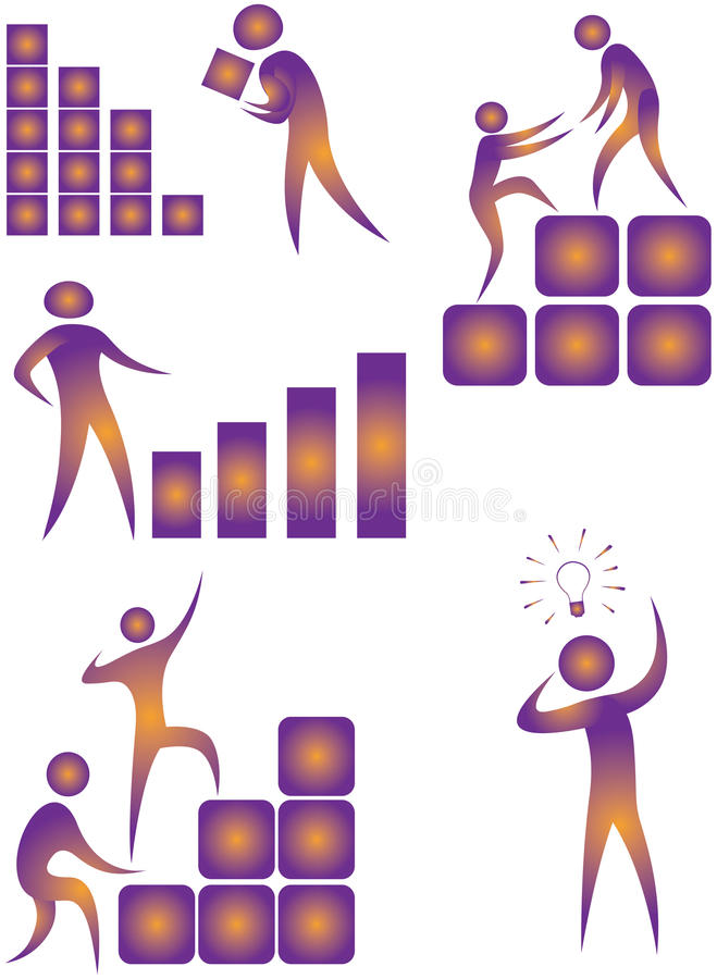 Download Illustrative icon stock illustration. Illustration of business - 15610977