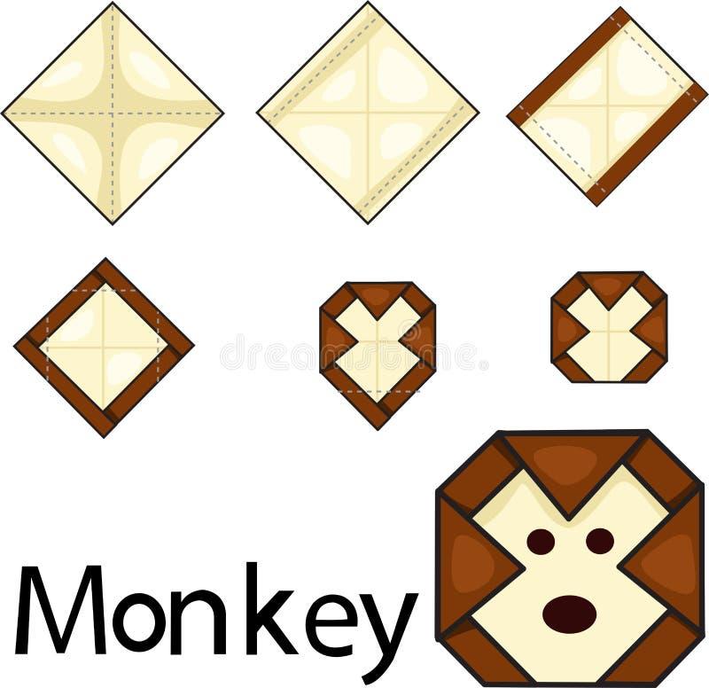 Illustrator of monkey origami. Illustrator of money origami vector illustration