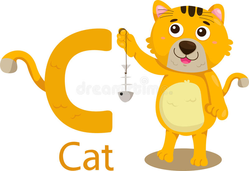 Illustrator de C con el gato libre illustration