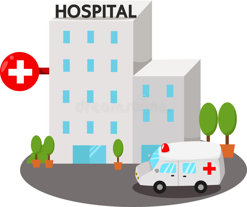 Illustrator de los edificios del hospital libre illustration