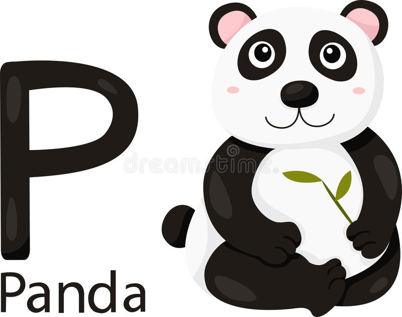Illustrator de P con la panda libre illustration