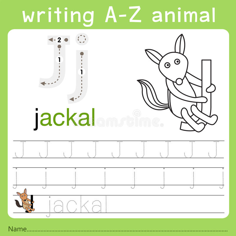 Illustrator del animal j del a-z de la escritura libre illustration