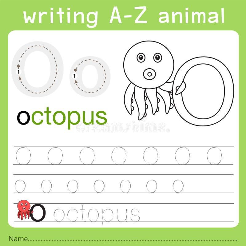 Illustrator del animal o del a-z de la escritura libre illustration