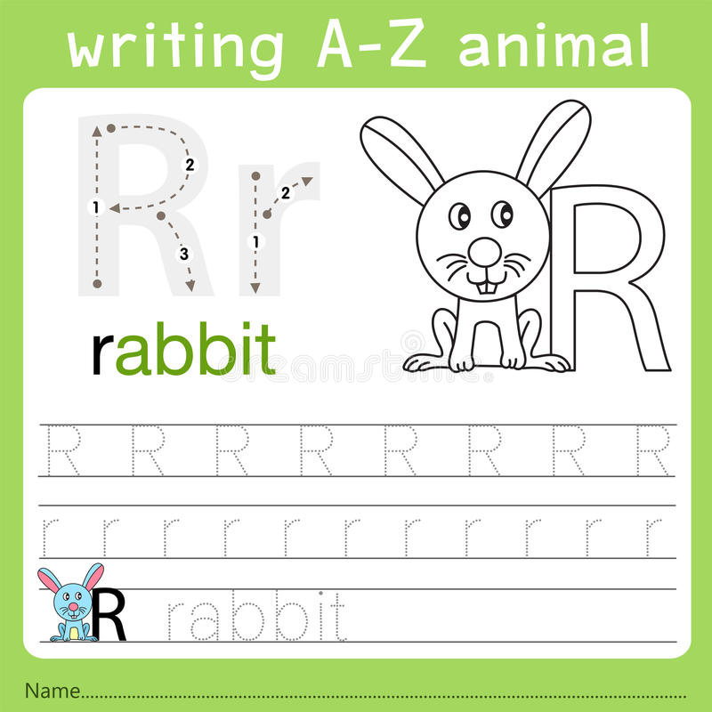 Illustrator del animal r del a-z de la escritura libre illustration