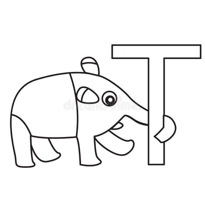 Illustrator del tapir de T stock de ilustración