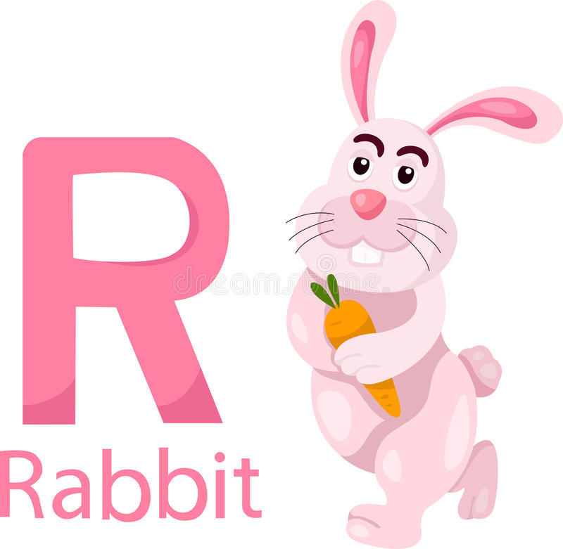 Download Illustrator Of R With Rabbit Stock Vector - Image: 33682240