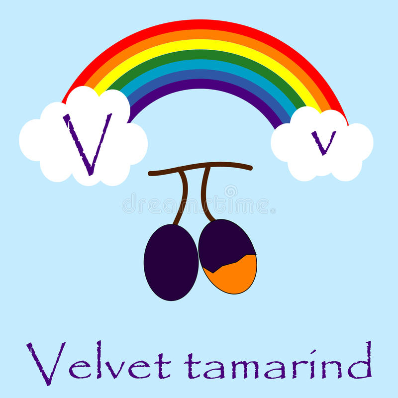 Illustrator of V alphabet stock photo