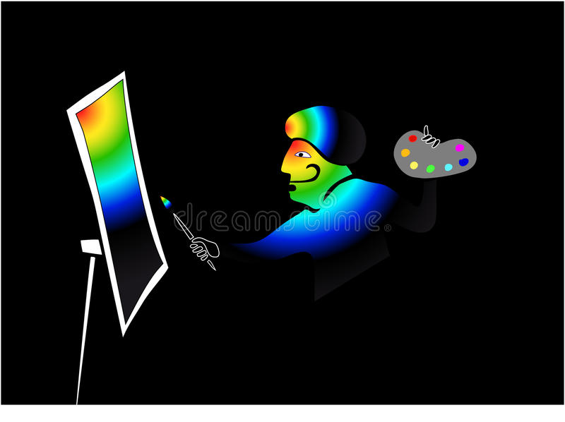 Download The Illustrator Which Has Drawn The Universe. Stock Vector - Image: 11243726