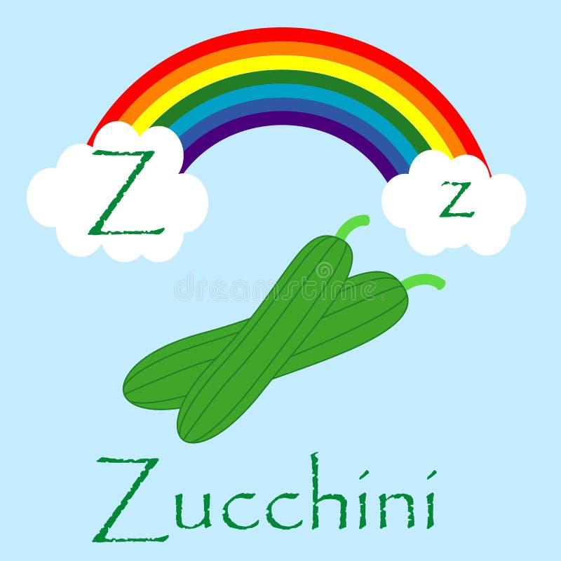 Illustrator of Z alphabet stock photo