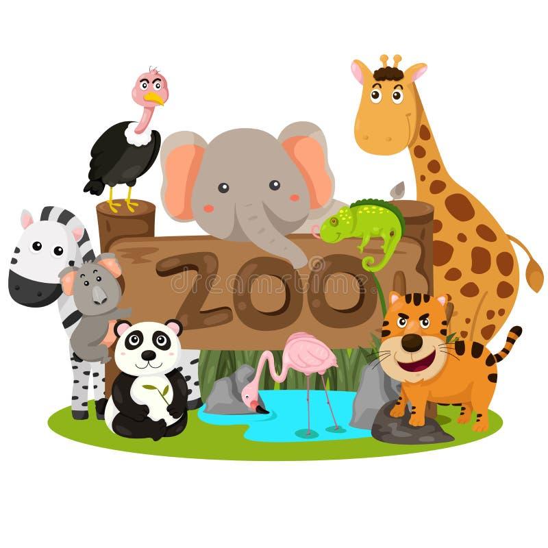 Illustrator of zoo animals stock vector. Illustration of ...