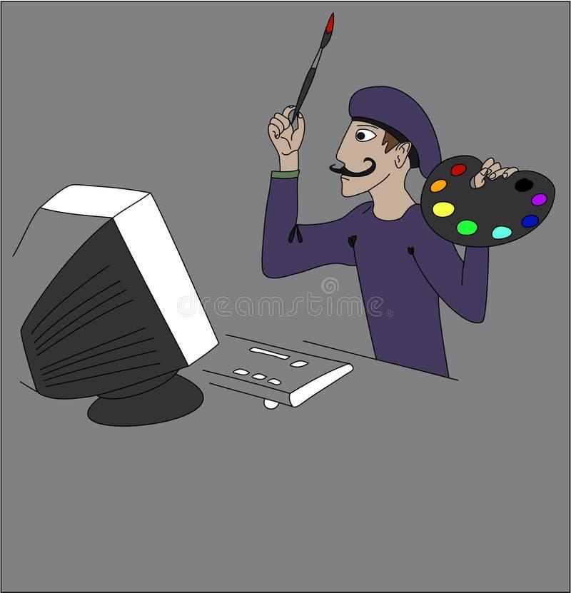 Illustratore illustrazione vettoriale