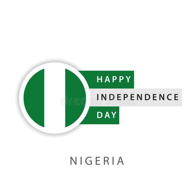 Illustratore felice di progettazione del modello di vettore di festa dell'indipendenza della Nigeria illustrazione di stock