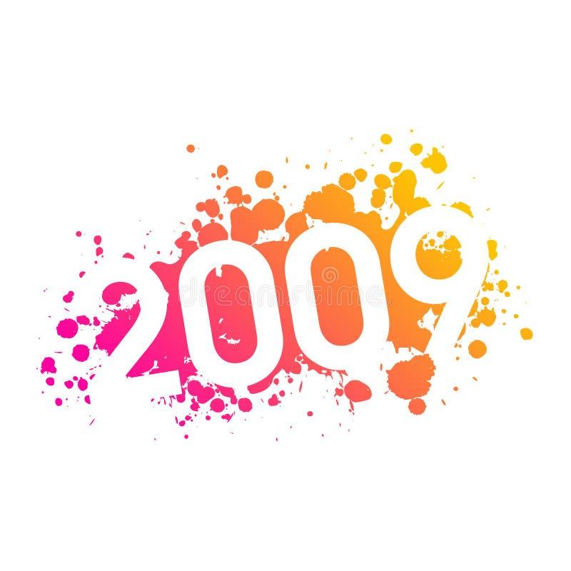 Download Illustrazione 2009 di anno illustrazione vettoriale. Illustrazione di riccio - 7322828