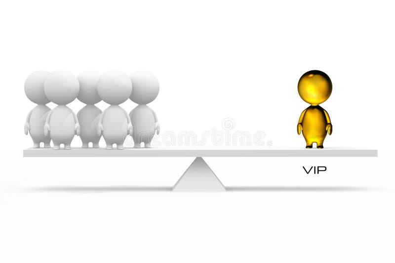 illustrazione 3D di un VIP illustrazione vettoriale