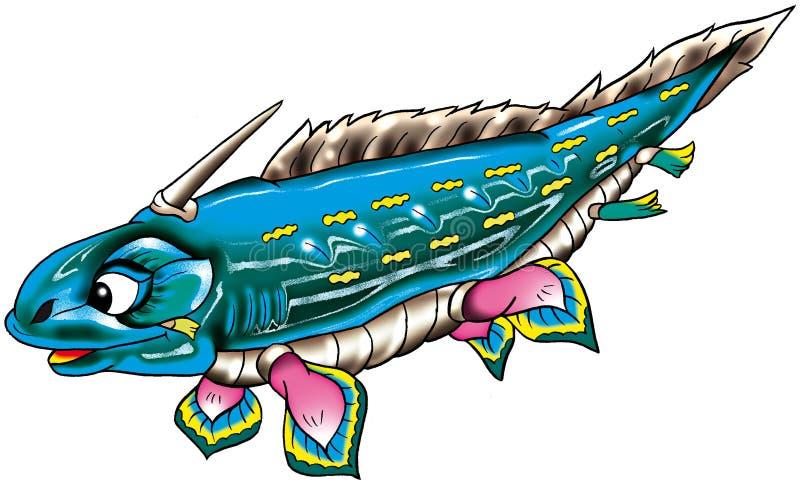 Illustrazione acquatica del dinosauro illustrazione vettoriale