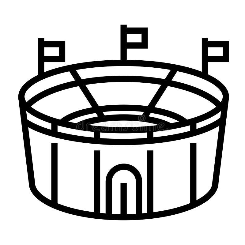 Illustrazione al tratto dello stadio illustrazione vettoriale
