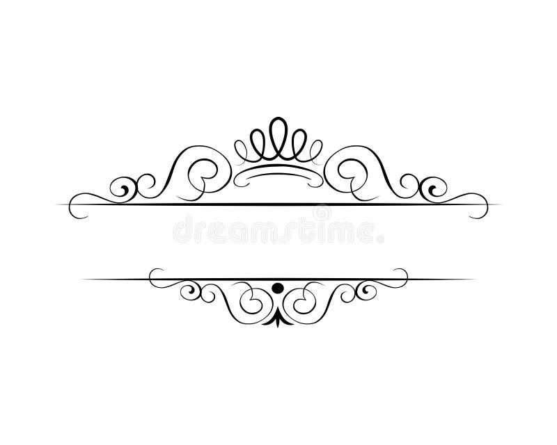Illustrazione al tratto di turbinii del diadema della corona illustrazione di stock