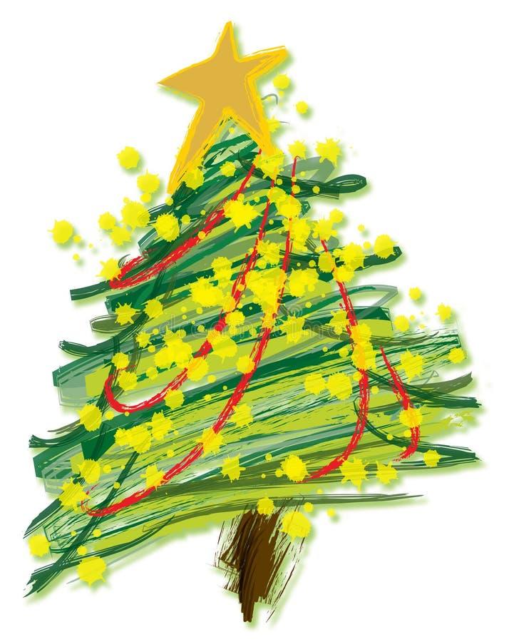 Illustrazione - albero di Natale illustrazione vettoriale