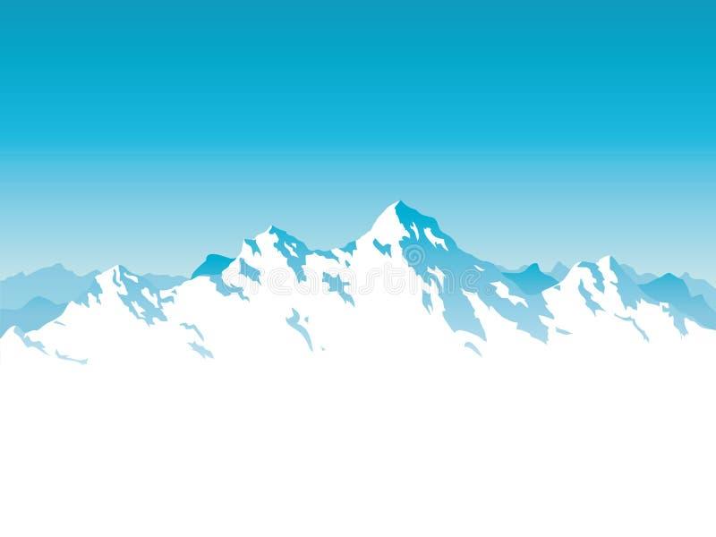 Illustrazione alpina di vettore della catena montuosa illustrazione vettoriale