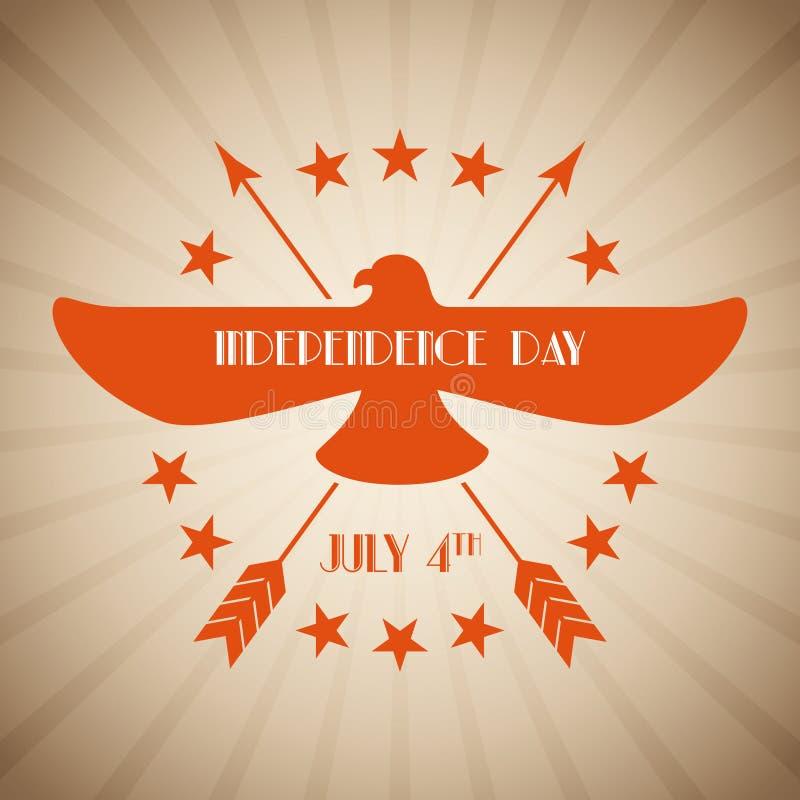 Download Illustrazione Americana Di Festa Dell'indipendenza Illustrazione Vettoriale - Illustrazione di etichetta, bandierina: 55351146