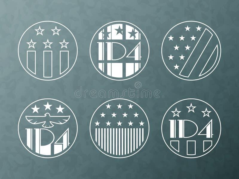 Download Illustrazione Americana Di Festa Dell'indipendenza Illustrazione Vettoriale - Illustrazione di etichetta, simbolo: 55352446