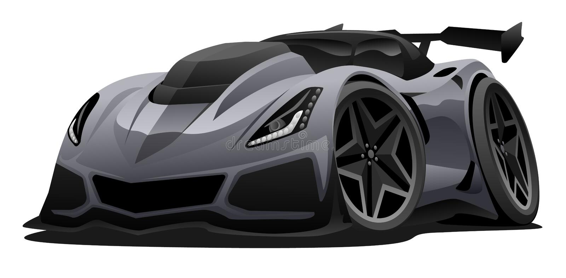 Illustrazione americana moderna di vettore dell'automobile sportiva royalty illustrazione gratis