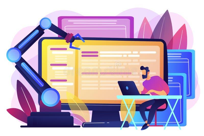 Illustrazione aperta di vettore di concetto di architettura di automazione royalty illustrazione gratis