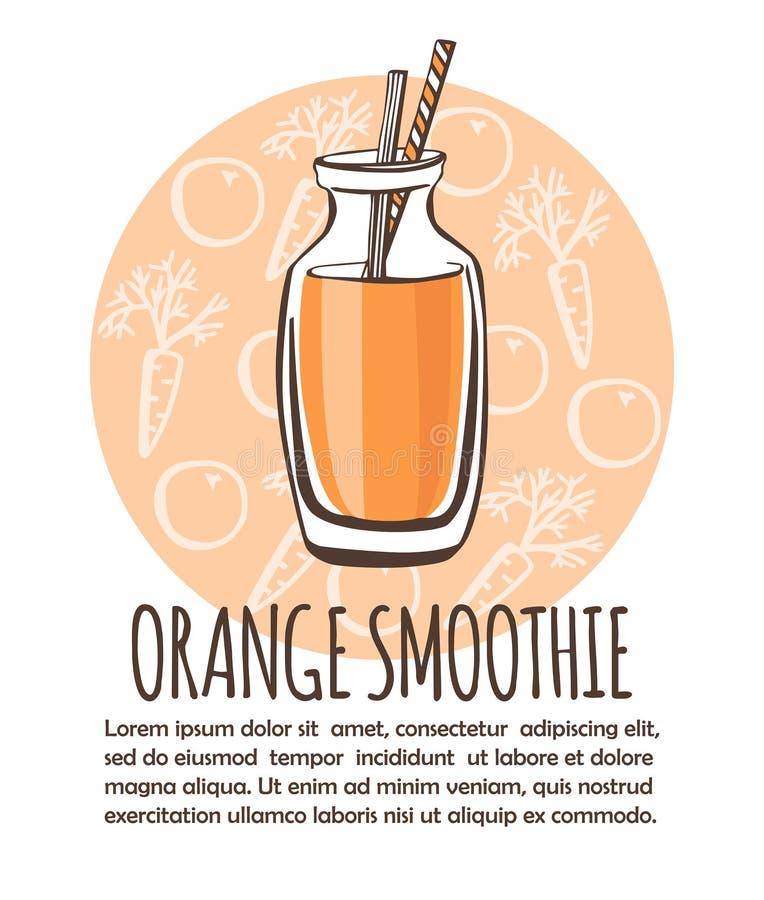 Illustrazione arancio di vettore del frullato illustrazione di stock