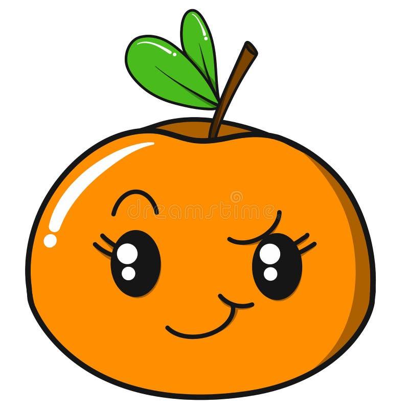 Illustrazione arancio sorridente di arte di vettore per i bambini e la stampa dei vestiti royalty illustrazione gratis
